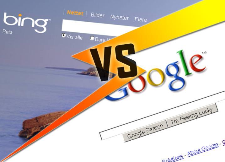 """Bing """"kopiert"""" Google Ergebnisse"""
