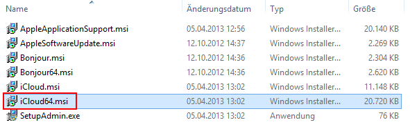 iCloud 64 Bit Setup