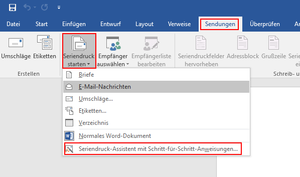 Outlook Serienmail Mit Personalisiertem Link Aus Word 2016 Michael